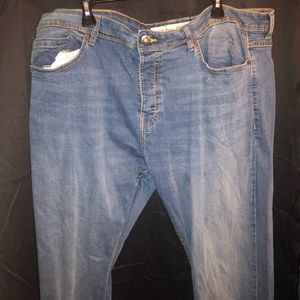 Men's Stretch Straight Blue Jeans
